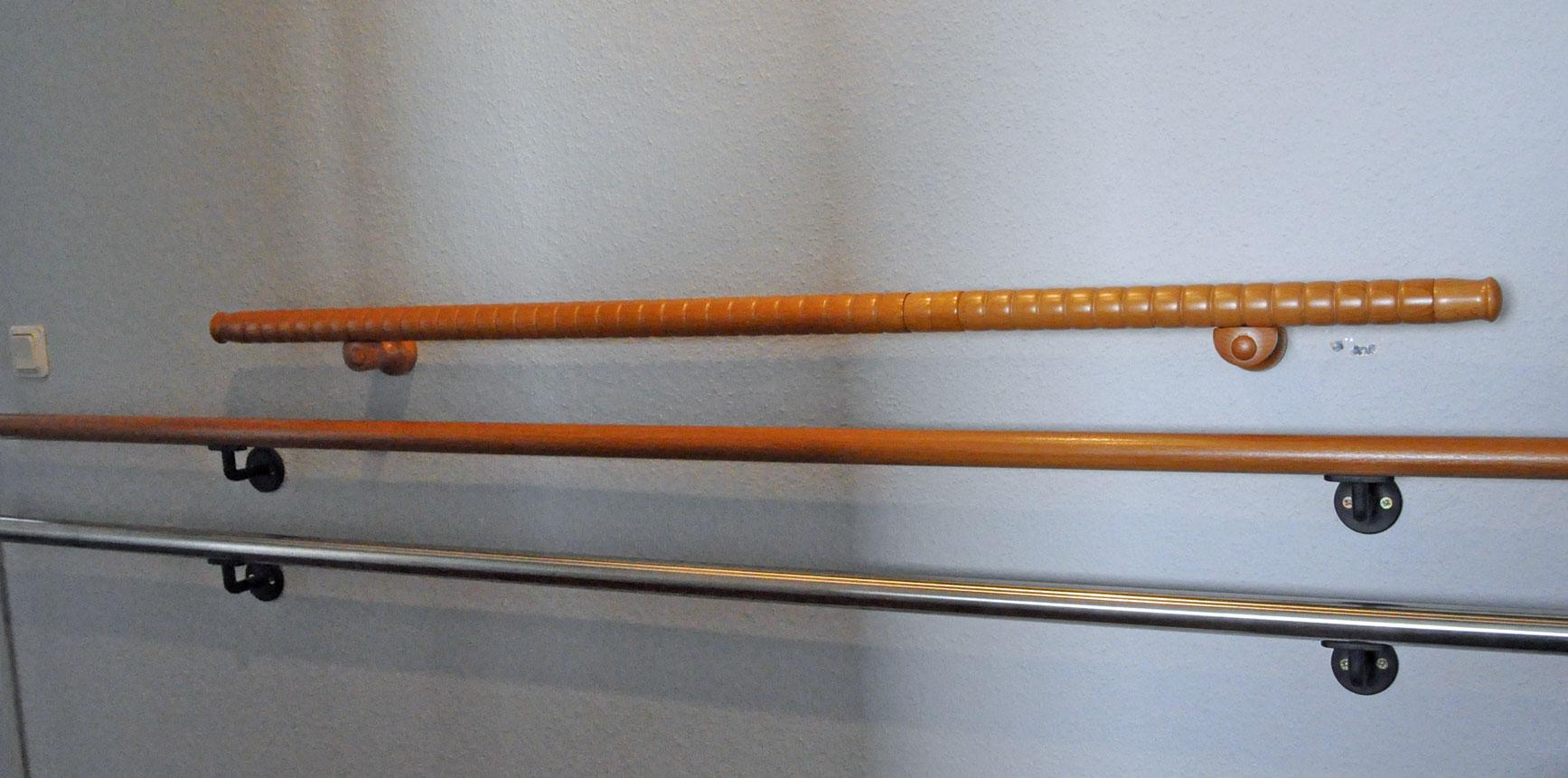 Handläufe aus Holz werden eher genutzt als solche aus Metall